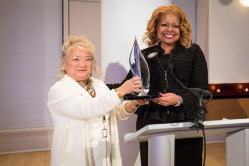 Patrice Tanaka and Judith Harrison at the Paladin Awards.