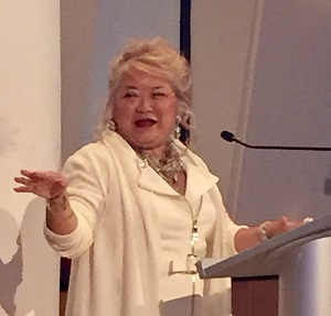 Patrice Tanaka at the Paladin Awards.